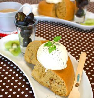 炊飯器de胡桃入りロイヤルミルクティーパンケーキ!!