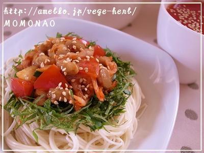 納豆 キムチ 素麺