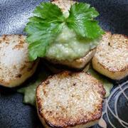 野郎飯流・山芋のステーキ あらごし空豆と甘酒のソース