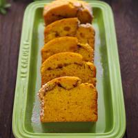 カボチャのふわふわケーキ☆ホットケーキミックスで簡単、秋・ハロウィンのケーキ♪