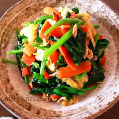 【簡単】麺つゆ常備菜!小松菜とツナの炒め煮♪あと一品にも♡