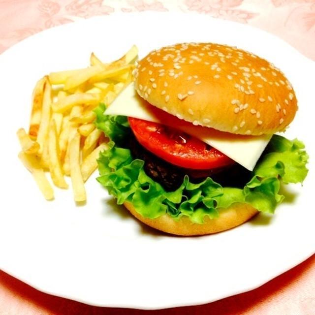 バジルハンバーグ☆ハンバーガー