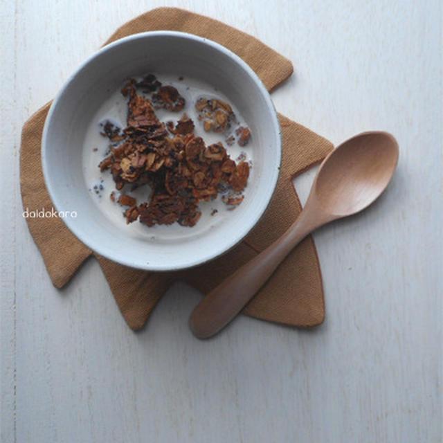 温かい牛乳で食べる紅茶のグラノーラ