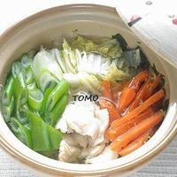 理研ビタミン 「わかめスープ」 de 一人鶏すき鍋