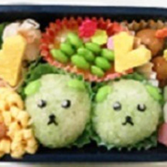 豆しば弁当♪♪  ★★飾り巻き寿司レッスン ばら 梅の花 かえる