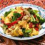 白ワインに合う、優しい味のヘルシーおつまみ、焼き野菜と豆腐のチャンプルー。