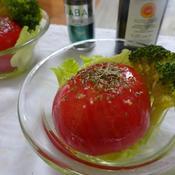 ひんやり丸ごとトマトバジルサラダ