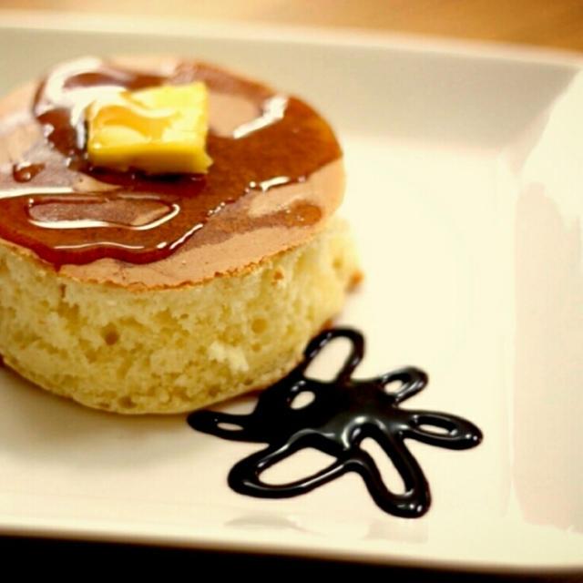 お気に入りのホットケーキミックス&フライパンで厚焼きパンケーキ♪
