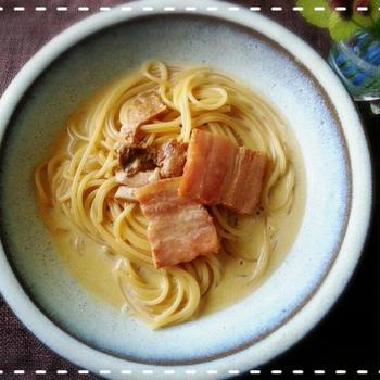 今日は豆乳の日♡ポルチーニ茸の濃厚クリームパスタdeおうちで簡単イタリア~ン♡(*^^*)
