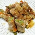 夢農家のお野菜で♡母の日弁当(アスパラの肉巻きとブーケサラダ弁当)