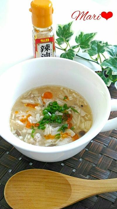 えのきが決めて!やみつきコク旨☆豚バラの味噌スープ