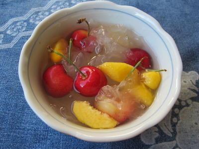 白木耳とフルーツのスィートスープ  7・16・2012