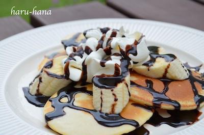 チョコバナナパンケーキ☆