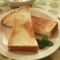 朝から幸せトースト♪マヨメロンパパン!