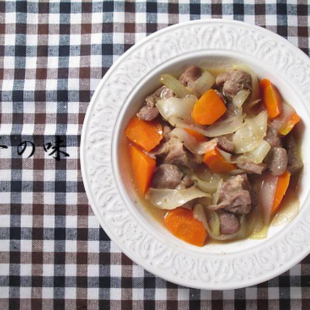 豚ブロック肉の白ワイン煮