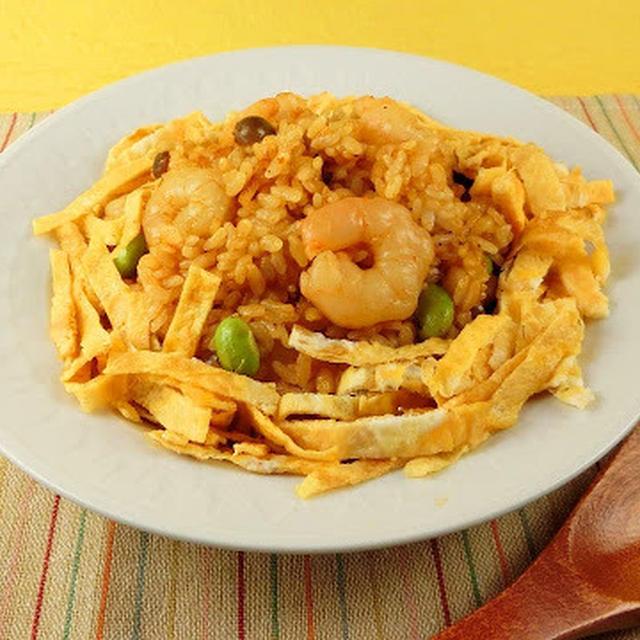 岡山の人気B級グルメ!黒い焼き飯「えびめし」の作り方