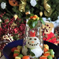 スノードーム風 雪だるまのデコちらし寿司*クリスマス