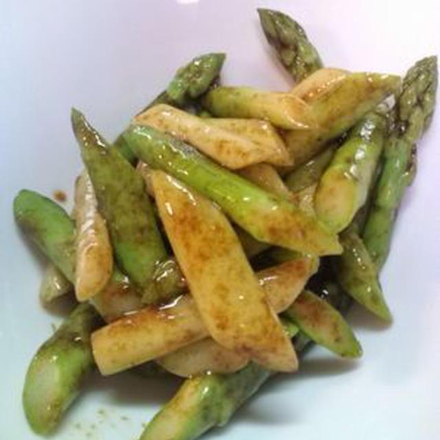 地元のお野菜のコラボです♪ アスパラガス×海苔(^^)