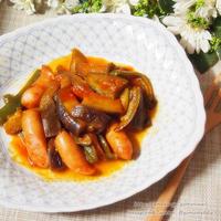 デルモンテ 基本の完熟トマト・ソース濃縮タイプ de なすとソーセージのトマト煮込み