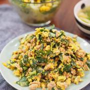 給料日前のお助けレシピ♡麺つゆで簡単♡ひき肉ニラ玉♡