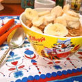 コーンフレークス&バナナ ~ 暑い日☀とりあえずお腹に何か栄養をはコレ!!