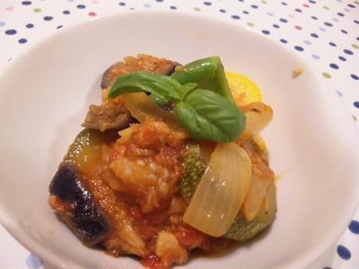 自家製野菜で今年初のラタトゥイユ♪