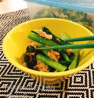 レンチンだけ!!簡単!!お弁当やあと一品に。 小松菜とツナのレンジ蒸し。