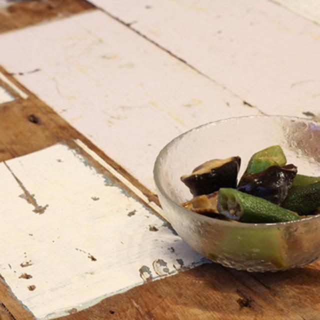 【recipe】椎茸とオクラの炒め煮/チャリで酒屋まで行く