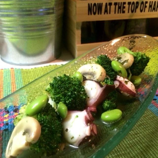 蛸と枝豆とブロッコリーと、一人の私。