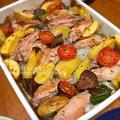 魚焼きグリルにお任せ!手羽中と野菜のグリル