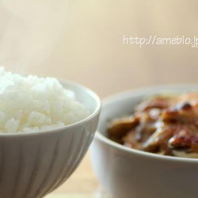ごはんのための味噌ダレビーフグリル*長野の新ブランド米、風さやか