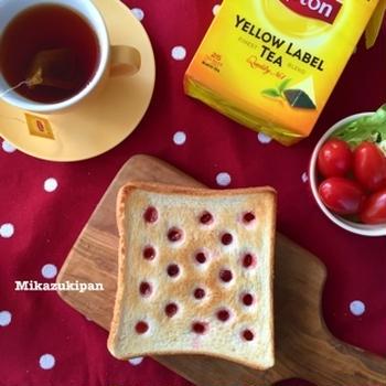 水玉トースト リプトンひらめき朝食