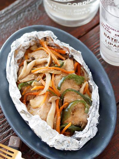 鶏むね肉のホイル焼き【#簡単 #時短 #節約 #トースター #フライパン用ホイルシート #クレハ】