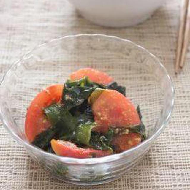 トマトとわかめの韓国風ごま和え