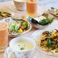 【朝ご飯は 夏野菜とベーコンのパスタ/ヴィシソワーズ/トマトジュースです♪】 by あきさん