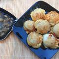 新玉ねぎのサクふわ天ぷらに大根おろしめんつゆ添え(ペコロス、小玉ねぎ)