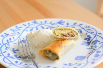 桜香る♪林檎と薩摩芋の春巻きパイ 桜香る♪林檎と薩摩芋の春巻きパイ by mokaさん   レシ