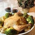 クリスマス料理 ローストチキンとバターライスのスタッフィング