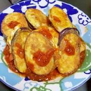 茄子のピカタ ガーリックトマトソース添え