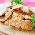 レンジ7分。音鳴り響く激サクオートミールチーズ海老煎餅(糖質12.6g) by ねこやましゅんさん