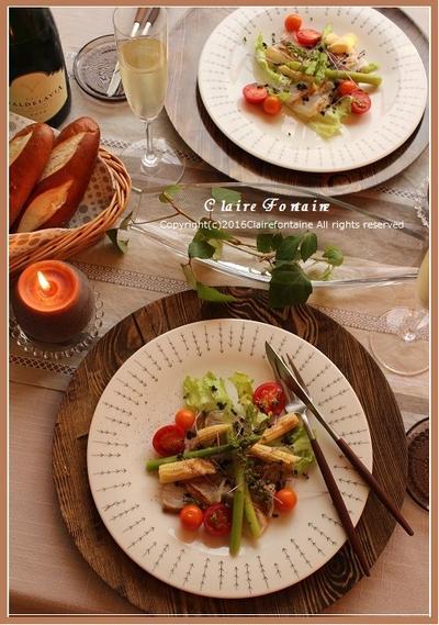 かぼす収穫!で、イタリアン♪秋のキャンドルテーブル