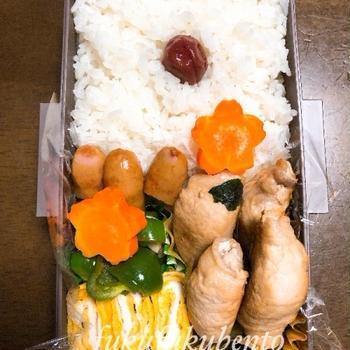 本日のお弁当★豚肉の玉ねぎ巻き★(中2)
