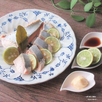 やっぱり刺身!マヨ&しょう油で『北海道産 生秋鮭お刺身風』