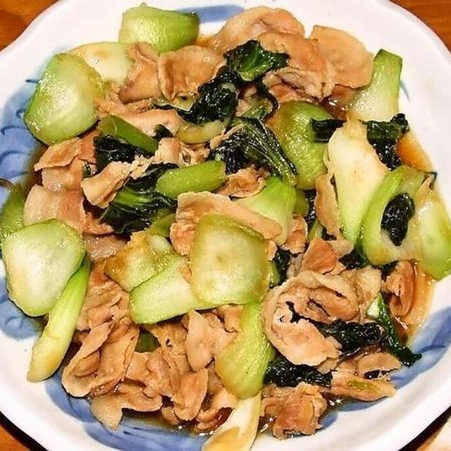 豚バラ肉と青梗菜のオイスターソース炒め&赤魚の煮付け