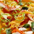 【具沢山!!菜園野菜フル活用の蟹豆腐】にんじんのとろ実スープでヘルシージューシー簡単!!♪