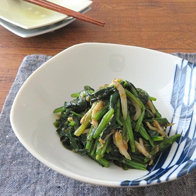 簡単和総菜◎ほうれんそうとしらすの海苔生姜和え