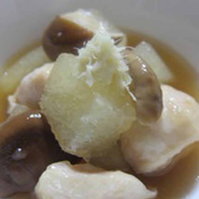 「鶏肉と冬瓜と椎茸の煮物」
