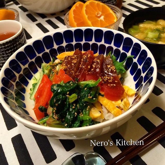 韓国風マグロ漬け丼♪