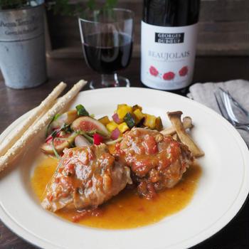 鶏もも肉のサルティンボッカ~モッツァレラ