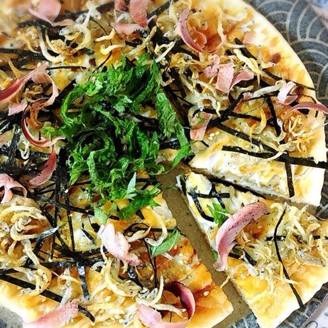 しらすと醤油の和風ピザ。
